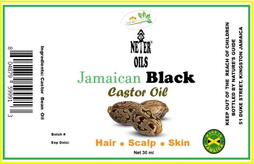 Castor Oil Label 30ml