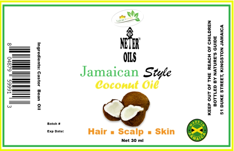Coconut Oil Label 30ml